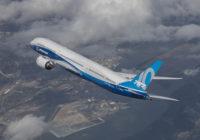 Pruebas de rendimiento del 787-10 de Boeing