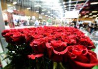 Millones de rosas volaron para el día de los enamorados