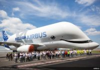 Airbus BelugaXL sale del taller de pintura