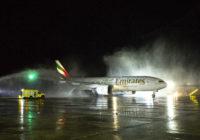 Conozca los detalles del vuelo inaugural de Emirates a Chile