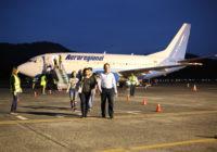 Aeroregional inicia vuelos chárter entre Ecuador y Panamá