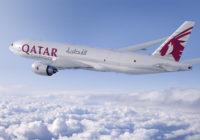Qatar Airways anuncia un nuevo pedido de cinco 777 cargueros a Boeing