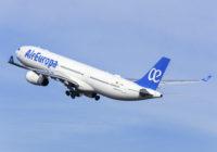 Air Europa tendrá una segunda frecuencia a San Pedro Sula en Honduras