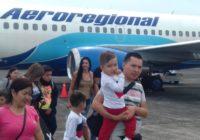Aeroregional reinició hoy sus vuelos chárter a Panamá