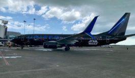 Avión de United conmemorativo de Star Wars llegó a Tocumen