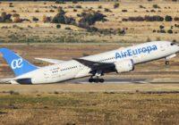 Air Europa entra en el top 10 de las aerolíneas de red más puntuales de Europa en 2019