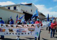 Trabajadores de la industria aérea panameña protestaron por sus derechos laborales